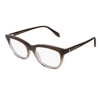 Alexander Mcqueen AM0161O 003 Brown Glasses