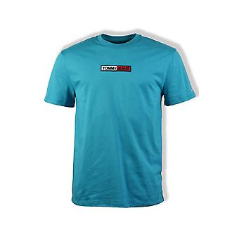 Tommy Jeans Embroidered Box T-Shirt (Exotic Teal)