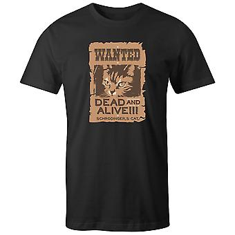 Boys Crew Neck Tee Short Sleeve Men's T Shirt- Wanted Dead And Alive