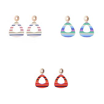 Jewelcity Sunkissed Womens/Ladies Contemporary Triangular Earrings