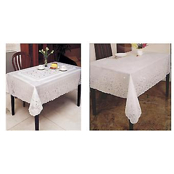 Embossed Vinyl Waterproof Square Tablecloth
