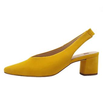 Högl 7-10 4602 Urbana Chic Pointed Toe Slingback Shoes In Yellow