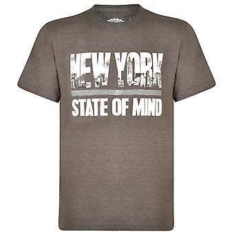 KAM Kam New York Theme Print T Shirt