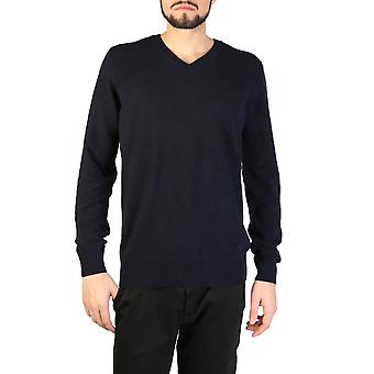 エンポリオ アルマーニ オリジナル メン オールイヤー セーター - ブルー カラー 32794