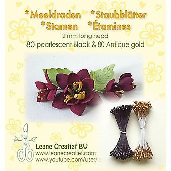 Leane Creatief Stamens Black & Antique Gold