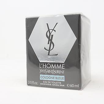 L'homme كولونيا Bleue بواسطة إيف سان لوران أو دو Toilette 2oz جديد مع مربع