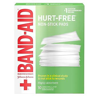 Band-aid first aid covers non-stick pads, large, 10 ea