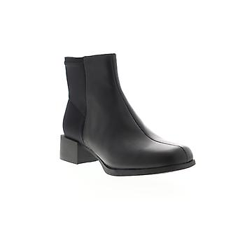 Camper Kobo Womens Zwart Lederen Rits jurk laarzen