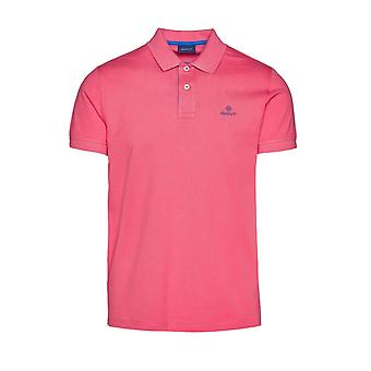 Gant Kontrast Kragen Pique Ss Rugger Polo Shirt Entrückung Rose