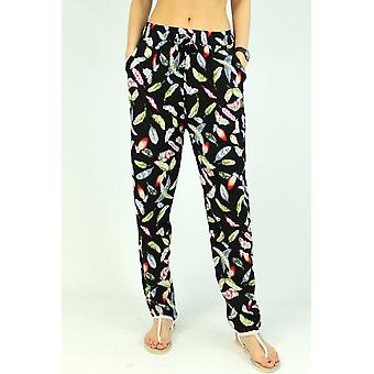 Women's floral patterned trousers
