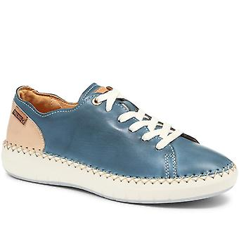 Pikolinos Womens Mesina W6B Leather Lace-Up Trainer