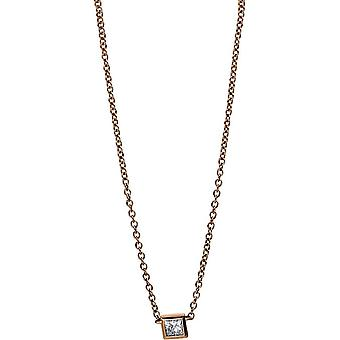 Diamond Collier Necklace - 18K 750/- Red Gold - 0.13 ct. - 4E266R8-1