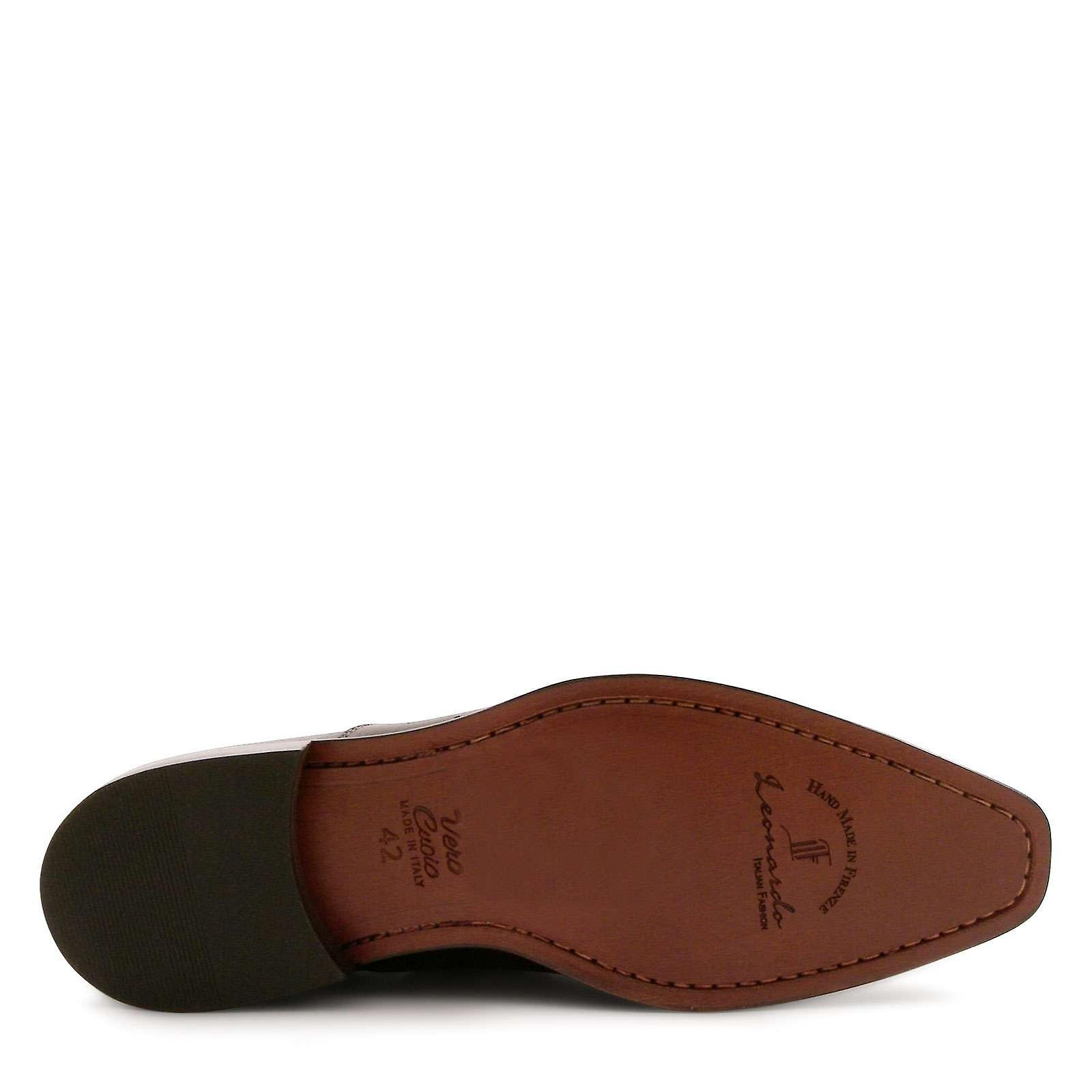 Italiano Abito scarpe in pelle nera fatta a mano mmYLtd