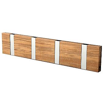 LoCa Wardrobe Knax 4 Teak (oiled) (hook foldable alu)