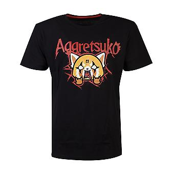 Resmi Aggretsuko Çöp Metal Men's T-shirt