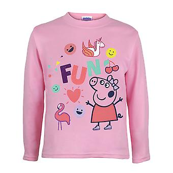 Peppa Pig Fun Girls Long Sleeve T-Shirt | Official Merchandise