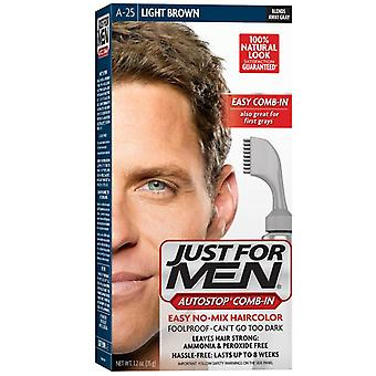 Just for men autostop haircolor, light brown a-25, 1 kit