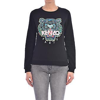 Kenzo Fa52sw7054xa99 Kvinder's Sort bomuldsst sweatshirt