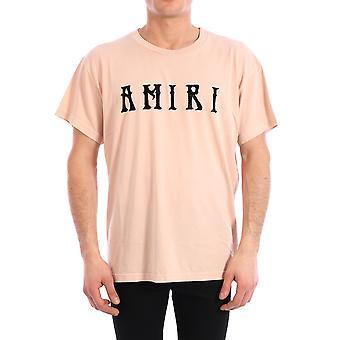 Amiri Y0m03434cjwsa Men's Pink Cotton T-shirt