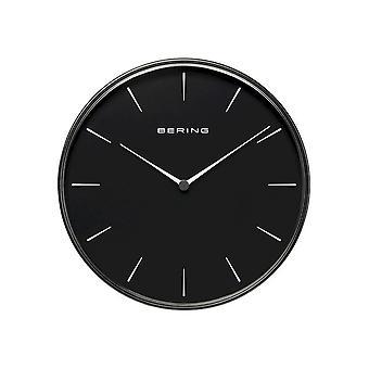 Bering wall clock Quartz 292mm black brushed 90292-22R