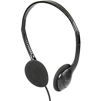 Vivanco TV COMFORT 40 TV On-ear headphones On-ear Black