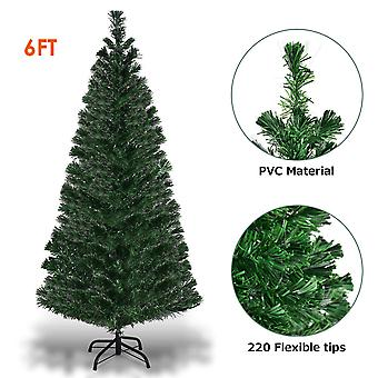 6FT Artificial Fiber Optic Christmas Tree Xmas Light Decoration Festival Decor
