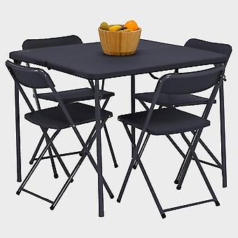 Nuovo tavolo Vango Dornoch e sedie Set Nero