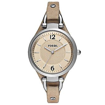 Fossil ES2830 Georgia Beige Dial Sand Tan Leather Ladies Watch