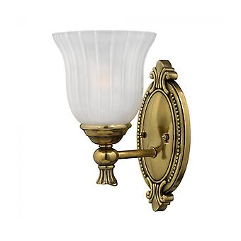 Françoise Wall Lamp, Burnished Brass And Glass, 1 Bulb