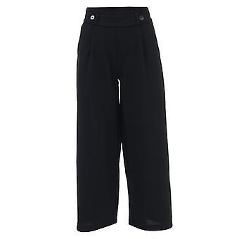 Women's Jacqueline de Yong Geggo Jersey Trousers in Black