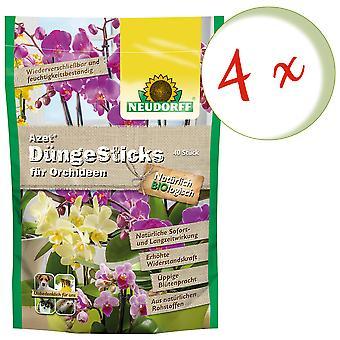 Sparset: 4 x NEWDORFF Azet® FertilizerSticks для орхидей, 40 палочек