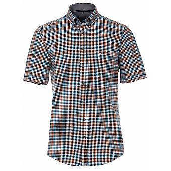 CASA MODA Casa Moda Multi Colour Check Short Sleeve Shirt