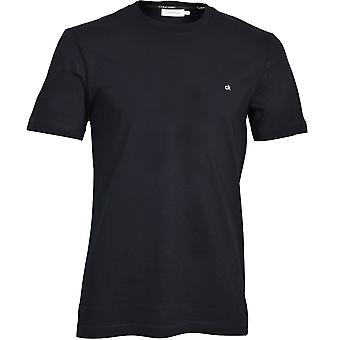 Calvin Klein Bordado Logotipo Crew-Neck T-Shirt, Calvin Black