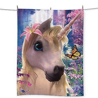 Wild star hearts - sparkles unicorn - beach towel