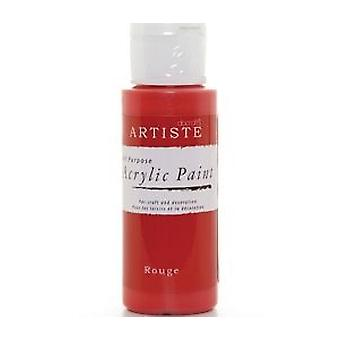 Red docrafts Artiste All Purpose Acrylic Craft Paint - 59ml