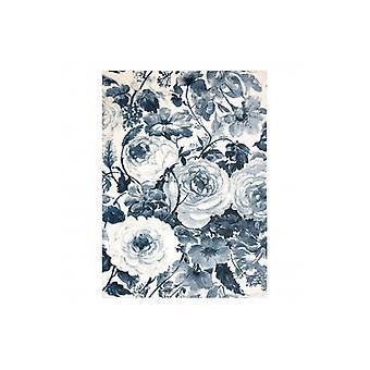 سجادة HENT 78316652 الزهور الزرقاء / البيج