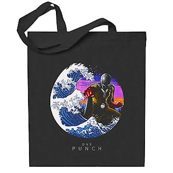 One Punch Man Tsunami Wave Saitama Totebag
