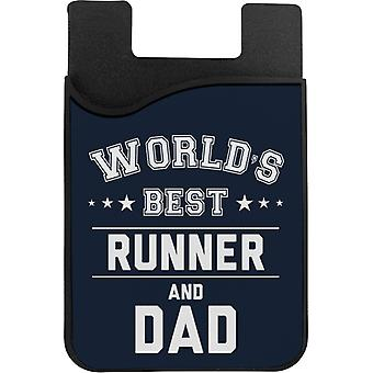 Worlds Best Runner And Dad Phone Card Holder