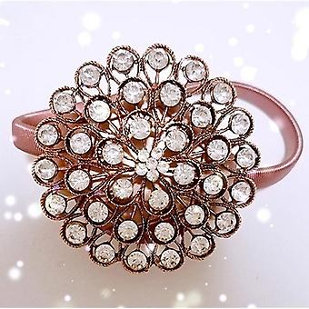 Rhinestone Flower Design Magnetic Curtain Decorative Window Screening Tieback