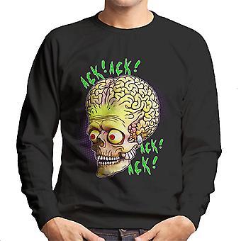 Mars Attacks Ack Ack Alien Head Men's Sweatshirt
