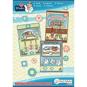 Marij Rahder Winter 1 3D Cards A5  (3 cards) (9.0085)