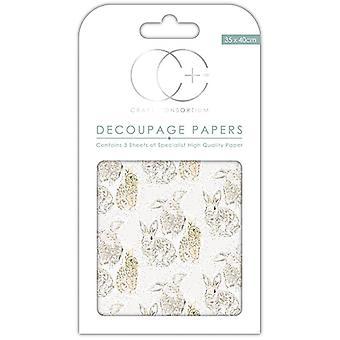 Craft Consortium Hazel Decoupage Papers