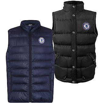 Chelsea FC Mens Gilet Jacket Body Warmer Padded OFFICIAL Football Gift