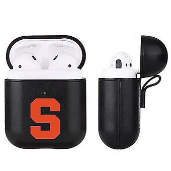 Syracuse Orange NCAA Fan Brander Zwart Lederen AirPod Case