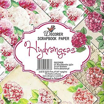 Decorer Hydrangeas 8x8 tuuman paperipakkaus