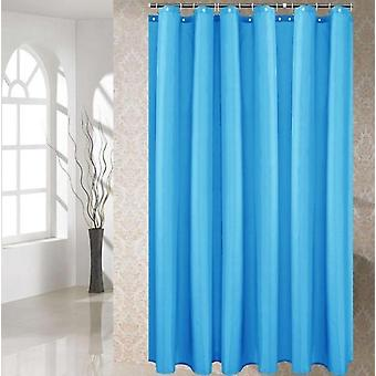 Polyester Fabric Shower Curtain With Hooks Waterproof Plastic Bath Screens