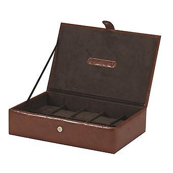 Leatherette Uhrenbox für 10 Uhren, Braun - Rhys