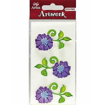 Lila Blumen Handwerk Verschönerung von Artoz