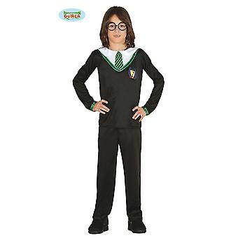 Aprendiz de feiticeiro Guirca mágico de fantasia de Harry para crianças Halloween Mage alunos criança costume
