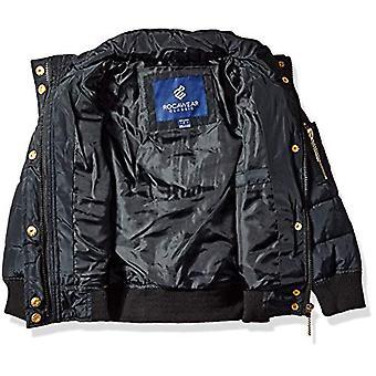 Rocawear Girls' Big Heavyweight Bomber Jacket, Black, 7/8